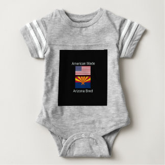 """American Born..Arizona Bred"" Flags and Patriotism Baby Bodysuit"