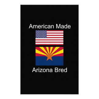 """American Born..Arizona Bred"" Flags and Patriotism Custom Stationery"