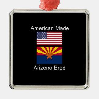 """American Born..Arizona Bred"" Flags and Patriotism Metal Ornament"