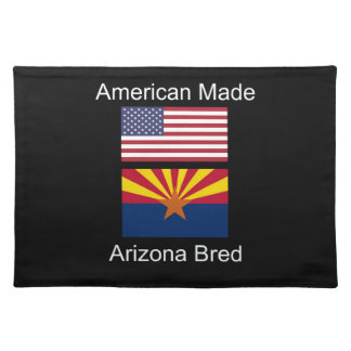 """American Born..Arizona Bred"" Flags and Patriotism Placemat"