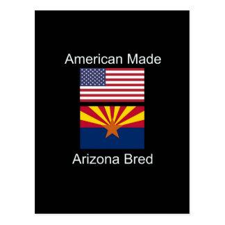 """American Born..Arizona Bred"" Flags and Patriotism Postcard"