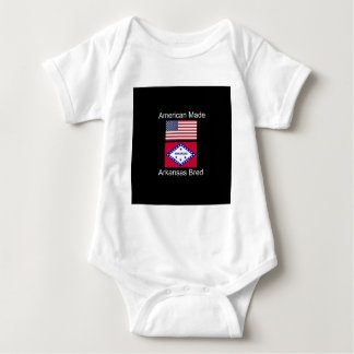 """American Born..Arkansas Bred"" Flag Design Baby Bodysuit"