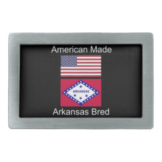 """American Born..Arkansas Bred"" Flag Design Belt Buckles"