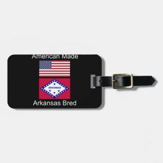 """American Born..Arkansas Bred"" Flag Design Luggage Tag"