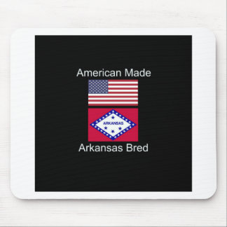 """American Born..Arkansas Bred"" Flag Design Mouse Pad"