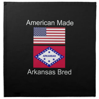"""American Born..Arkansas Bred"" Flag Design Napkin"