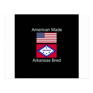 """American Born..Arkansas Bred"" Flag Design Postcard"