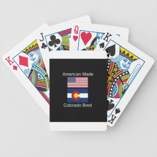 """""""American Born..Colorado Bred"""" Flag Design Bicycle Playing Cards"""