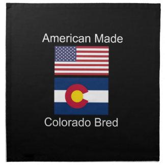 """""""American Born..Colorado Bred"""" Flag Design Napkin"""