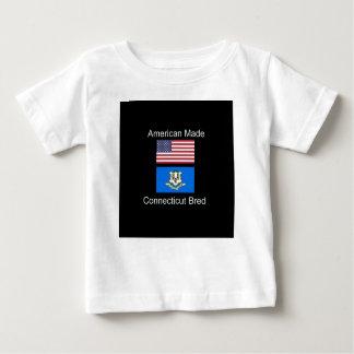 """American Born..Connecticut Bred"" Flag Design Baby T-Shirt"