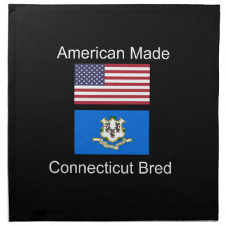 """""""American Born..Connecticut Bred"""" Flag Design Napkin"""