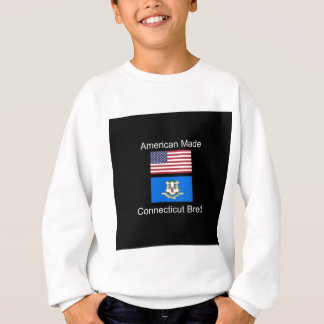 """American Born..Connecticut Bred"" Flag Design Sweatshirt"
