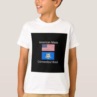 """American Born..Connecticut Bred"" Flag Design T-Shirt"