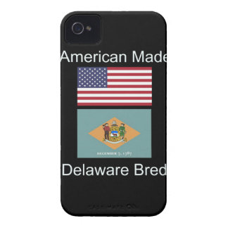 """American Born..Delaware Bred"" Flag Design iPhone 4 Case-Mate Case"