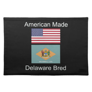"""American Born..Delaware Bred"" Flag Design Placemat"