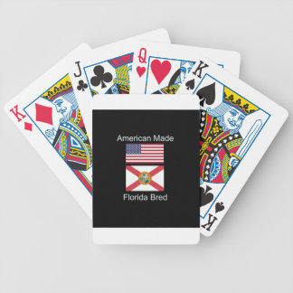 """""""American Born..Florida Bred"""" Flags and Patriotism Bicycle Playing Cards"""