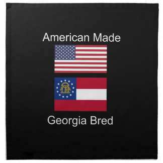 """American Born..Georgia Bred"" Flags and Patriotism Napkin"