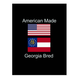 """American Born..Georgia Bred"" Flags and Patriotism Postcard"