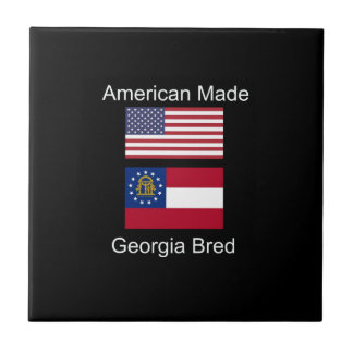 """American Born..Georgia Bred"" Flags and Patriotism Tile"