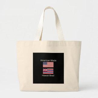 """American Born..Hawaii Bred"" Flags and Patriotism Large Tote Bag"