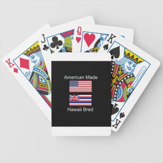 """""""American Born..Hawaii Bred"""" Flags and Patriotism Poker Deck"""