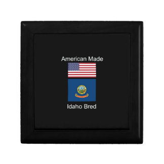 """American Born..Idaho Bred"" Flags and Patriotism Gift Box"