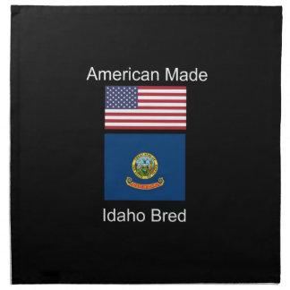 """American Born..Idaho Bred"" Flags and Patriotism Napkin"