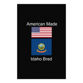 """""""American Born..Idaho Bred"""" Flags and Patriotism Stationery Paper"""
