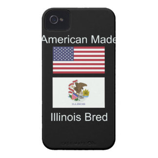 """American Born..Illinois Bred"" Flag Design iPhone 4 Cases"