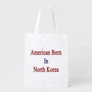American Born In North Korea Reusable Grocery Bag