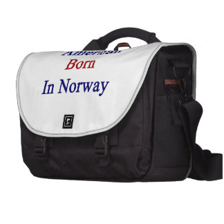 American Born In Norway Bag For Laptop
