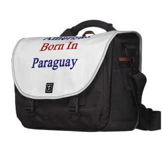 American Born In Paraguay Laptop Computer Bag