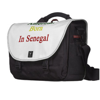 American Born In Senegal Bag For Laptop