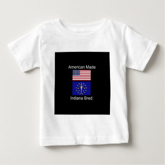 """""""American Born..Indiana Bred"""" Flags and Patriotism Baby T-Shirt"""