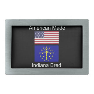 """American Born..Indiana Bred"" Flags and Patriotism Belt Buckle"