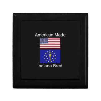"""American Born..Indiana Bred"" Flags and Patriotism Gift Box"