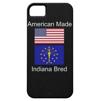 """""""American Born..Indiana Bred"""" Flags and Patriotism iPhone 5 Cases"""