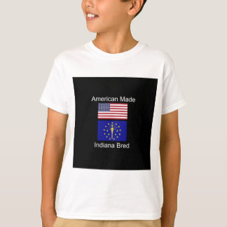 """American Born..Indiana Bred"" Flags and Patriotism T-Shirt"