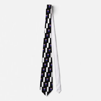 """""""American Born..Indiana Bred"""" Flags and Patriotism Tie"""