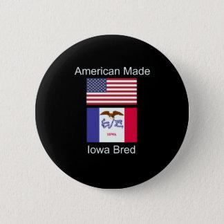 """American Born..Iowa Bred"" Flags and Patriotism 6 Cm Round Badge"