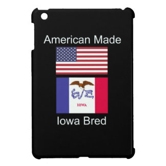 """""""American Born..Iowa Bred"""" Flags and Patriotism Cover For The iPad Mini"""