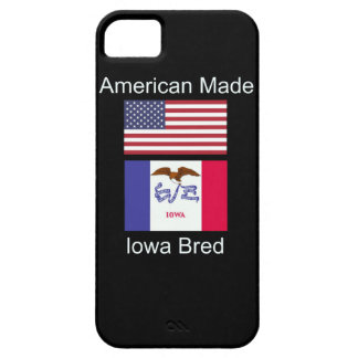 """""""American Born..Iowa Bred"""" Flags and Patriotism iPhone 5 Covers"""