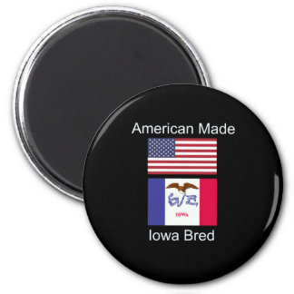 """""""American Born..Iowa Bred"""" Flags and Patriotism Magnet"""
