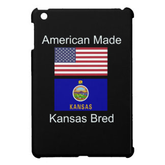 """American Born..Kansas Bred"" Flags and Patriotism Cover For The iPad Mini"
