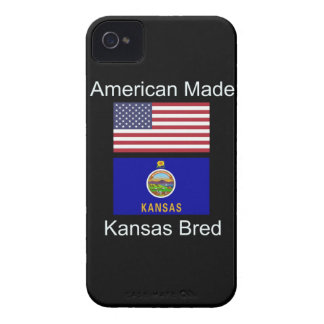 """American Born..Kansas Bred"" Flags and Patriotism iPhone 4 Cover"