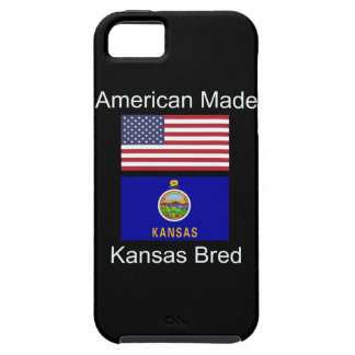 """American Born..Kansas Bred"" Flags and Patriotism iPhone 5 Cases"