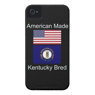 """American Born..Kentucky Bred"" Flag Design iPhone 4 Case-Mate Cases"
