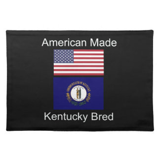 """American Born..Kentucky Bred"" Flag Design Placemat"