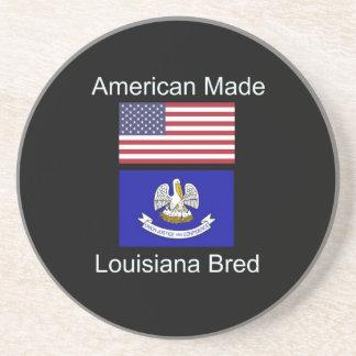 """American Born..Louisiana Bred"" Flag Design Coaster"