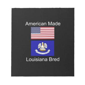 """American Born..Louisiana Bred"" Flag Design Notepad"